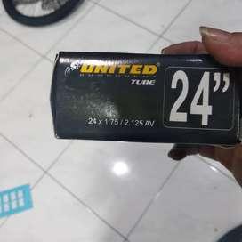 Ban Dalam 24 x 1.75/2.125 AV United untuk sepeda Federal MTB 175 2125