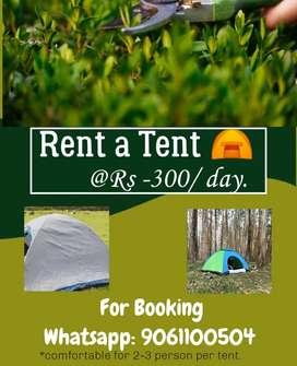 Tent rent at 350