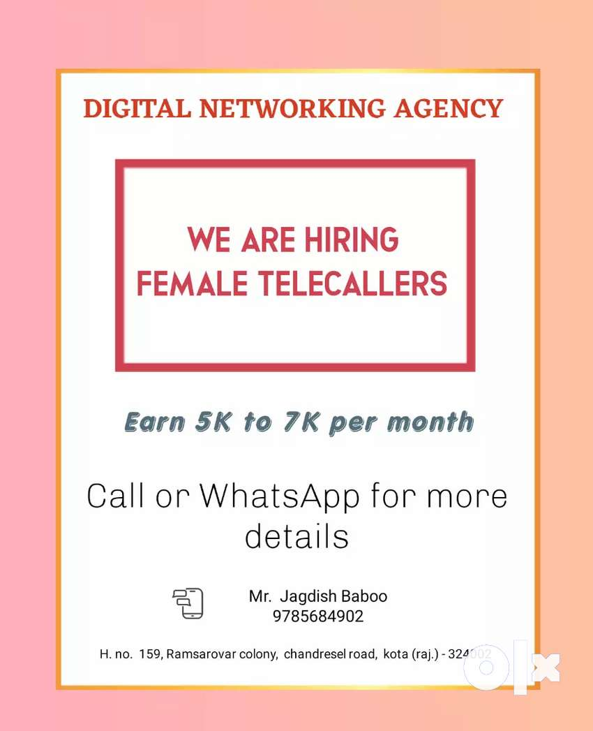 Hiring Female telecallers
