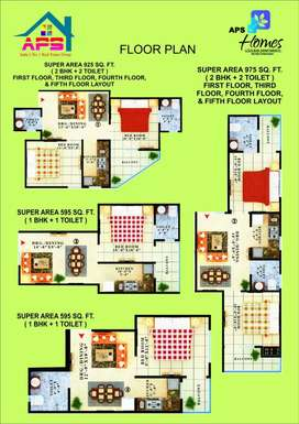 One bhk avalible near gaur city 13 lakh only