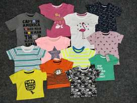 EXPORT SURPLUS COLLECTIONS FOR BOYS AND GIRLS  SEQUENCY WORK TSHIRT