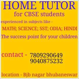 Home Tutor for class 4 to 9 cbse