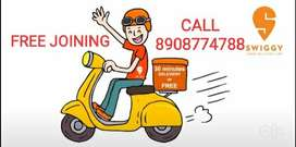 JOB IN SWIGGY, FOOD DELIVERY BOY, NO CHARGES, PART/FULL TIME, KOLKATTA
