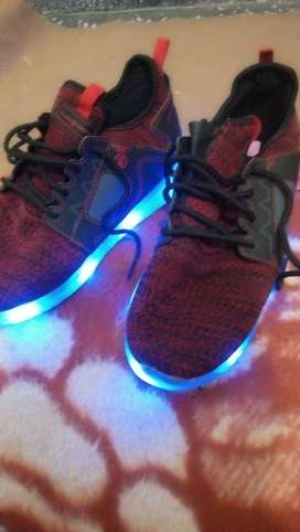 Charged abile shoes in different light and style