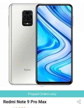 redmi note 9 pro max 6gb 128 gb White colour