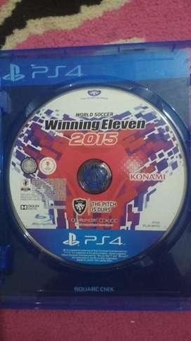 Jual BD PS4 Winning eleven 2015/PES 2015 original bekas