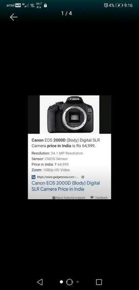 Canon DSLR 2000d