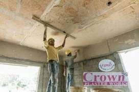 Gypsum plaster works for walls and ceilings we do