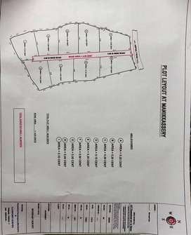 9 square housing plots for sale at Manissery next to Varikkassery Mana