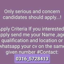 Part time job availability from Matric to above all student