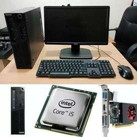 Komputer PC desktop branded Lenovo core i3,i5 Siap Utk office,GAME DLL