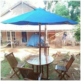Meja payung outdoor, vila, cafe, resto, taman,temoat wisata, kantkn