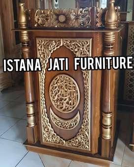 Podium mimbar masjid ceramah tausiyah