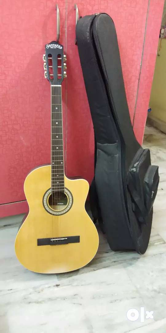 Guitar with 6 strings and extra pair of strings 0