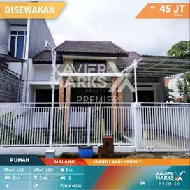 *Disewakan Rumah: Perumahan grand candi Mendut  kelurahan Mojolangu