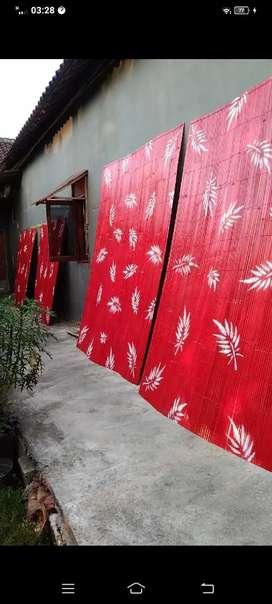Tirai bambu widi widi indah