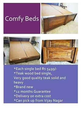 Teak wood single bed