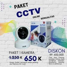 Paket CCTV Online HP resolusi 2MP Free pemasangan
