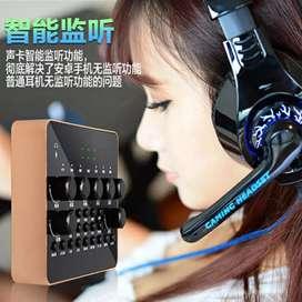 Audio Bluetooth USB External Soundcard Microphone Headset+Remote -V10