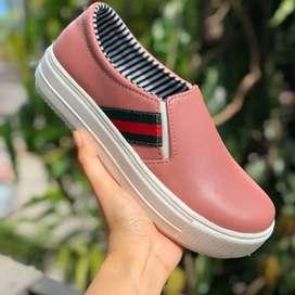 Sepatu Slip On Wanita Terbaru Original Elmaira EWP Sintetis Import