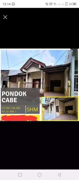 Dijual Rumah daerah pd cabe dkt kampus ut