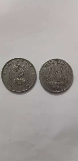 1/4 Old coin 1951 & 1955