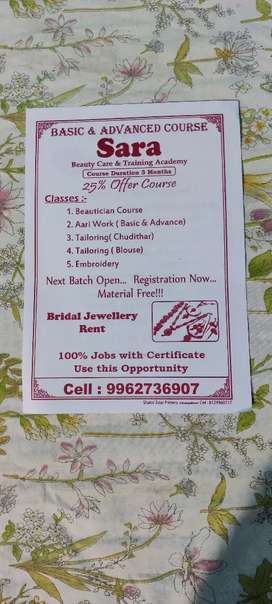 Beautician course basic and advanced