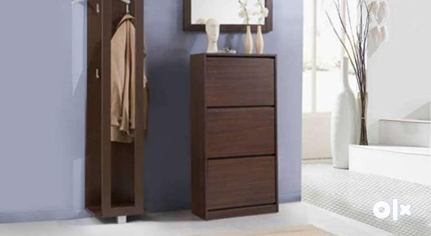 Urban Ladder Pointe Shoe rack cabinet 27 pairs Brand new 0