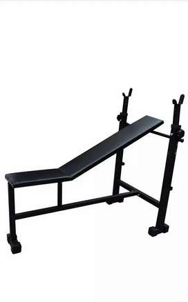 Home gym with bench