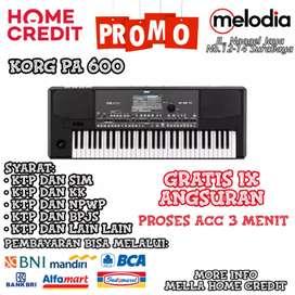 Promo Kredit KORG PA-600 Gratis 1× Angsuran di Melodia Musik Surabaya