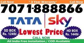 Tata Sky DTH Connection- D2h Videocon Tatasky Dish airtel tv airteltv