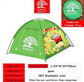 AB  tenda anak camping motif kartun buka otomatis anti air