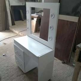 New stylish vanity with lights makeup storage best quality