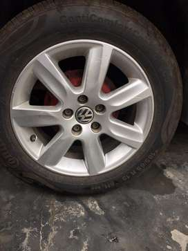 Alloy + Tyres for Polo Vento Skoda Rapid Fabia