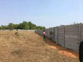 Precast wall boundary at bokaro