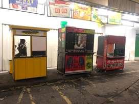 Booth gerobak container kekinian