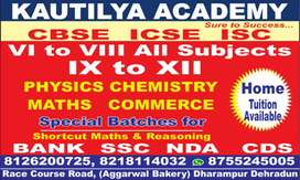 Home Tuition available  V TO XII(PCM) batches will start from15 March