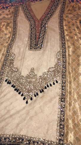 3 pc embellished stiched wedding wear suit