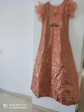 Party wear gown with stylish sleves