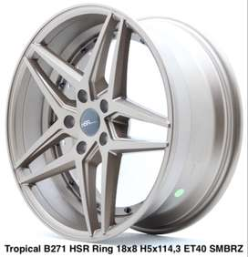 free ongkir TROPICAL B271 HSR R18X8 H5X114,3 ET40 SMBRZ