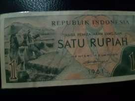 Uang 1rupah tahun 1961