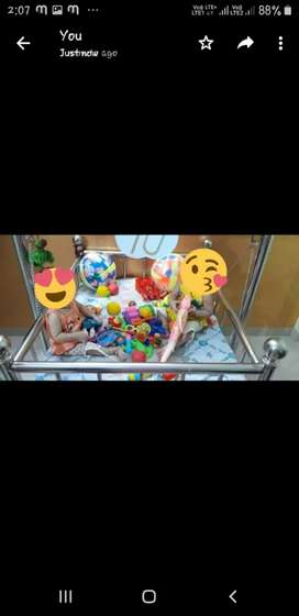 Baby cradle with mattress