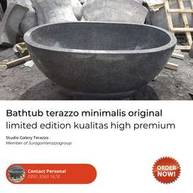 Bathtub Unik dan Cantik tipe oval Bali Handmade Terazzo