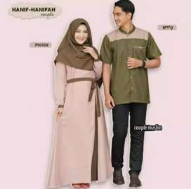 Baju gamis pasangan / kapel berbagai model terbaru harga grosir