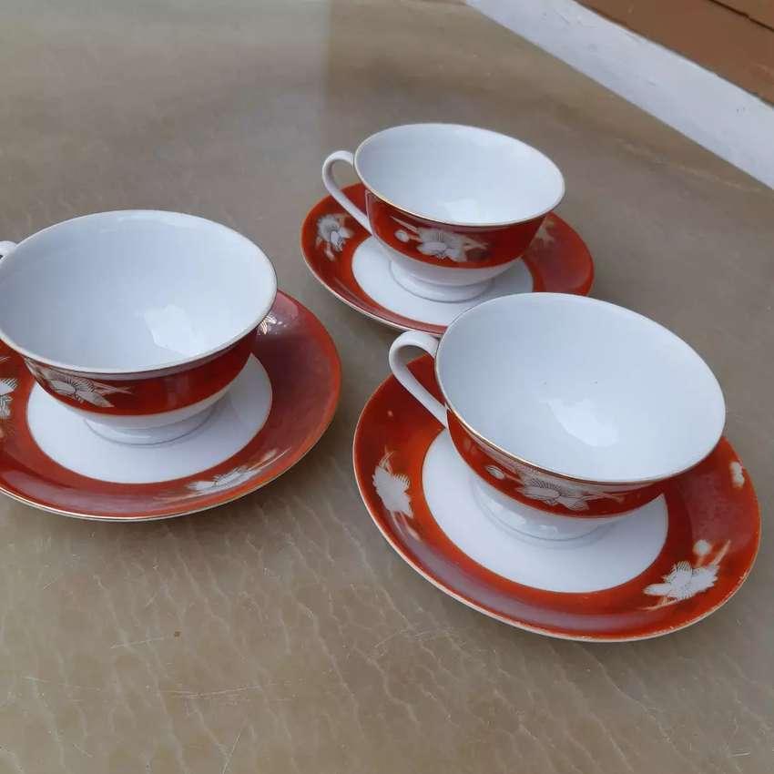 Cangkir 3pcs Keramik Antik Made In China 0