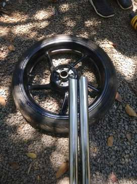 Back alloy wheel mono shok absorber front stump Yamaha FZ