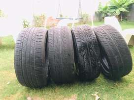 Low profile 18 inch tyres