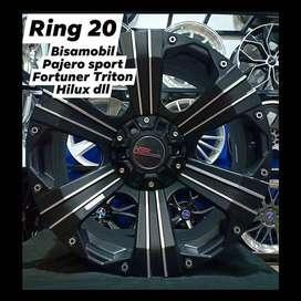 velg mobil bisa buat pajero fortuner triton hillux dll ring 20