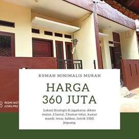 Rumah dijual di Jagakarsa akses motor bebas banjir harga 360 juta