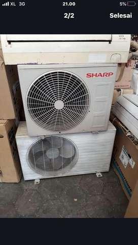AC sharp 1/2 PK harga plus pasang Grs 6 bulan dingin joss gandos
